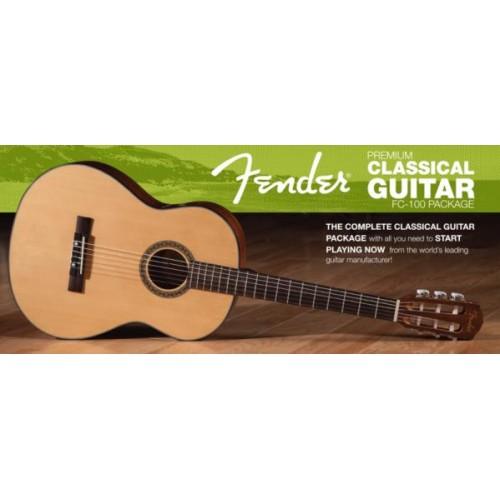 Комплект класическа китара FENDER - Модел FC-100